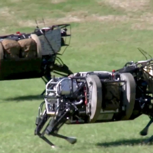 AlphaDog, U.S. Marines Robot Pack Animal - Legged Squad Support System - YouTube